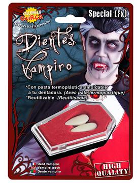 Colmillos Reutilizables con Termoplástica Vampiro