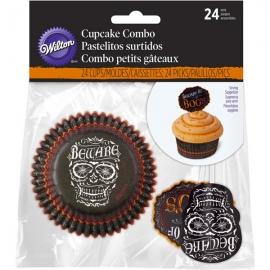 Cupcake Combo Calavera Halloween