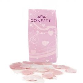Confeti Corazones rosas y blancos