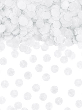 Confeti Círculo Blanco 15 gr