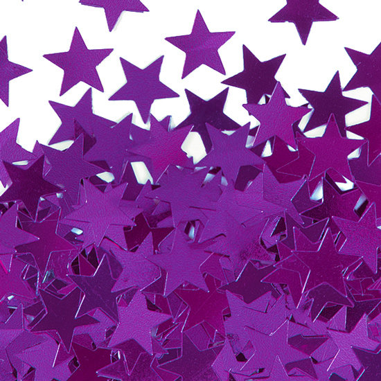 Confeti Estrellas Lilas