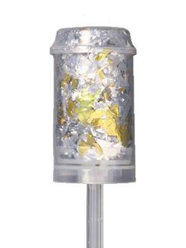 Cañón de confetti dorado y plateado 13 cm alto