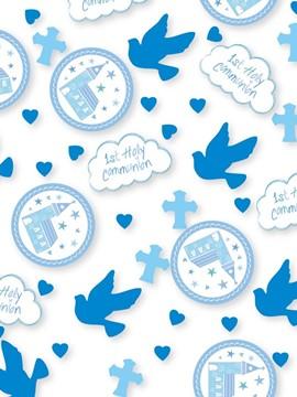 Confetti Comunión Iglesia Azul