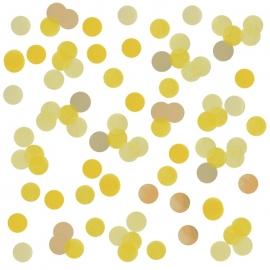 Confetti de Papel Amarillo y Dorado