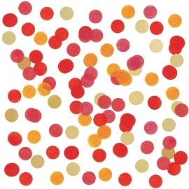 Confetti de Papel Rojo y Dorado