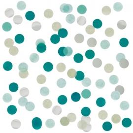 Confetti de Papel Verde y Plata