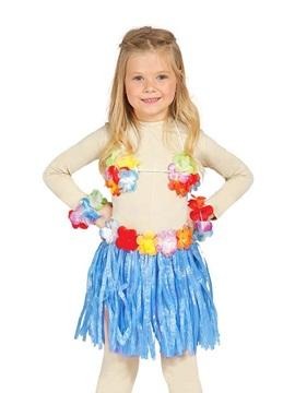 Conjunto Hawaiano Infantil Azul