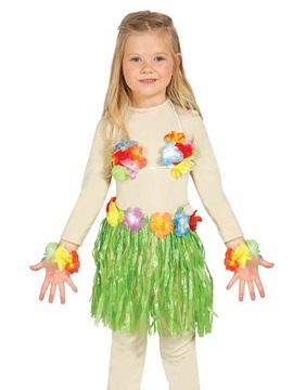 Conjunto Hawaiano Infantil Verde