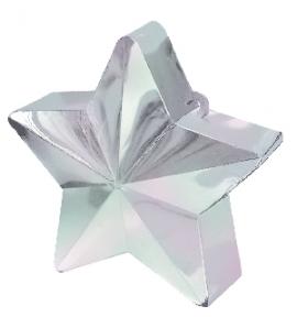 Contrapeso para globos estrella blanco iriscente