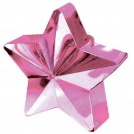 Contrapeso para globos estrella metalizada rosa pastel