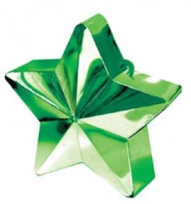 Contrapeso para globos estrella metalizada verde