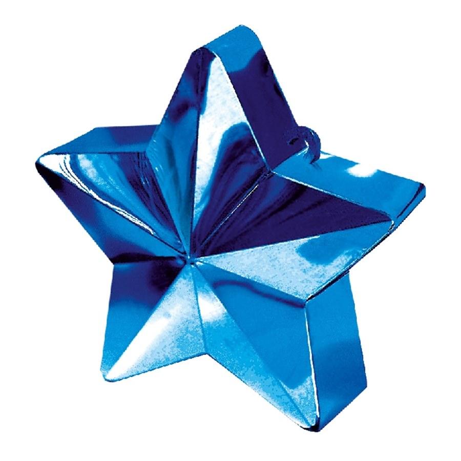 Contrapeso para globos estrella metalizada Azul Real
