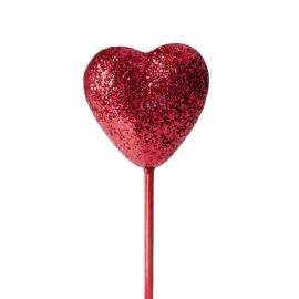 Corazón rojo para decorar tartas y dulces - Miles de Fiestas