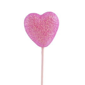 Corazón rosa para decorar tartas y dulces