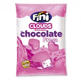 Nubes Corazones Bañados en Chocolate sabor Fresa 80 gr