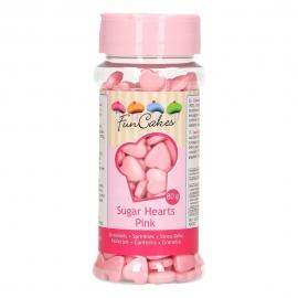 Corazones de Azúcar Color Rosa 80 gr