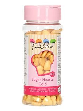 Corazones de Azúcar Color Oro 80 gr