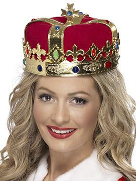 Corona Reina Dorada y Roja