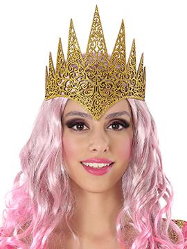 Corona Dorada Brillante Reina