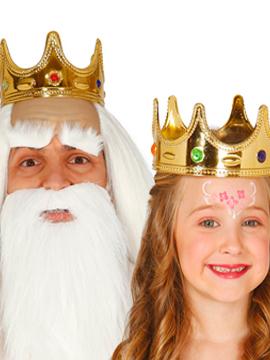 Corona Rey y Reina Infantil Oro