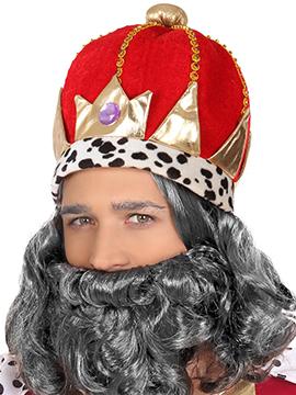 Corona Roja Acolchada Rey