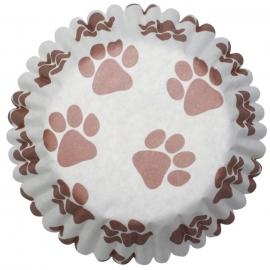 Cápsulas Medianas para Cupcakes Huellas de Perro