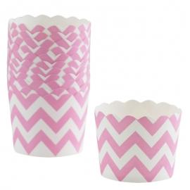 Cápsulas para Cupcakes Chevron Rosa Pastel