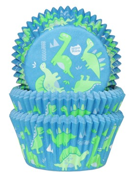 Cápsulas para Cupcakes Dinos 50 unidades