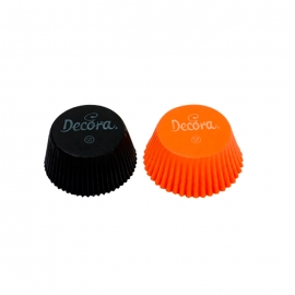 Cápsulas para Cupcakes Naranjas y Negras