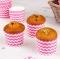 Cápsulas para Cupcakes Rosas con Rayas Onduladas