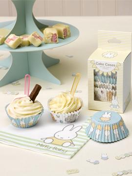 100 cápsulas para cupcakes de 2 diseños diferentes Baby Miffy