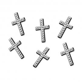 Cruces Plateadas Decorativas 25 ud