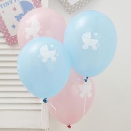 Juego de 8 globos nacimientos