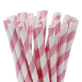 Pajitas para cake pops y bebidas soft pink