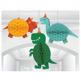 Decoración Colgante Nido de Abeja Dinosaurio