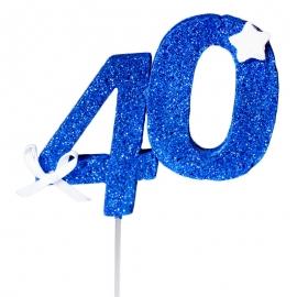 Decoración 40 Cumpleaños Azul
