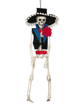 Decoración Colgante Esqueleto Mexicano