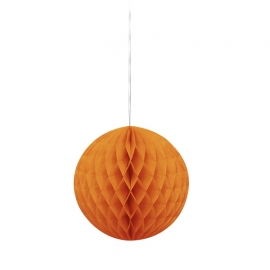 Decoración Colgante Nido de Abeja Naranja