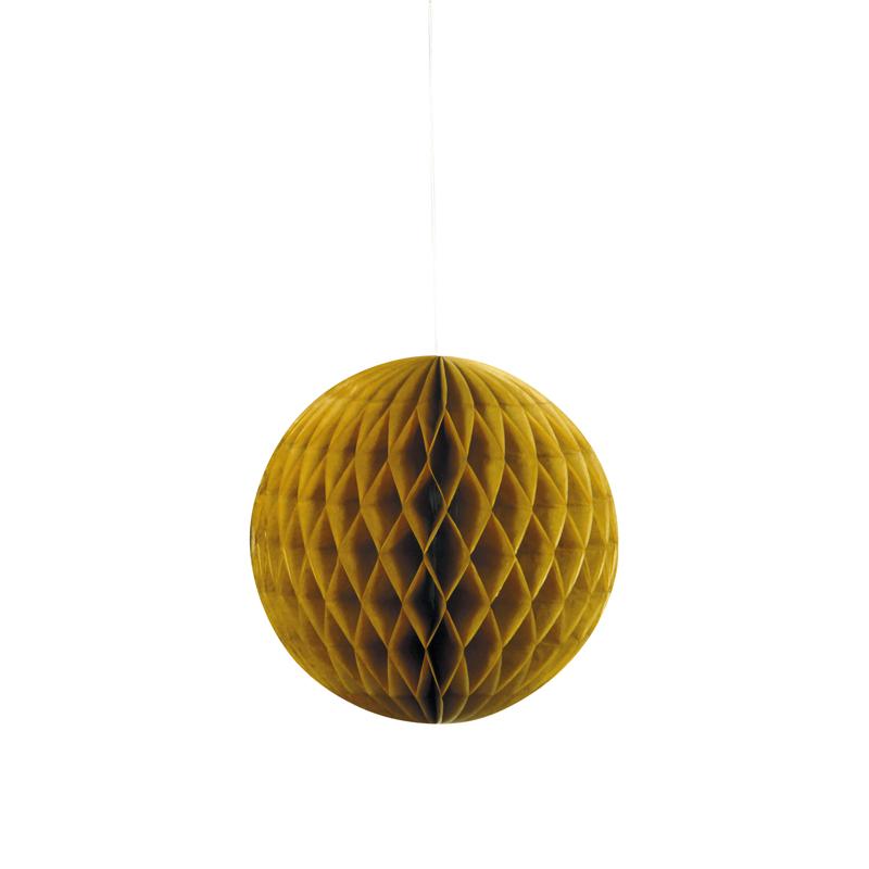 Decoración Colgante Nido de Abeja Oro 20cm