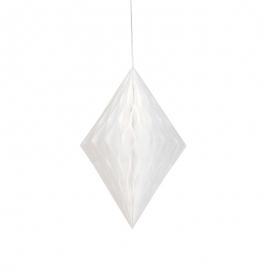 Decoración Colgante Rombo Blanco 35 cm