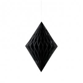 Decoración Colgante Rombo Negro 35 cm