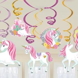 Decoración Colgante Unicornio Mágico