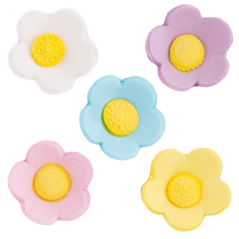 Decoración comestible Flores de azúcar de Colores - Miles de Fiestas