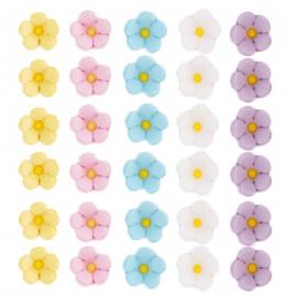 Decoración comestible flores de azúcar Pequeñas - Miles de Fiestas