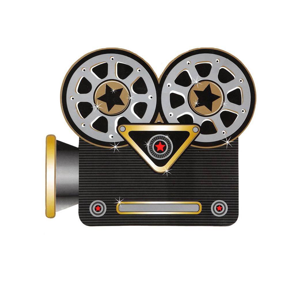 Decoración de cámara de cine de cartón