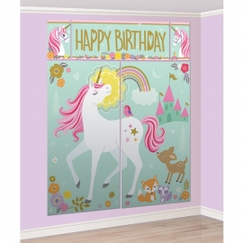 Decoración de Pared con Accesorios Unicornio Mágico