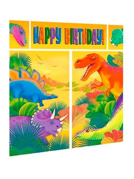 Decoración de Pared Dinosaurios Party