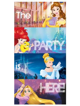 Decoración Puerta Princesas Disney Heart