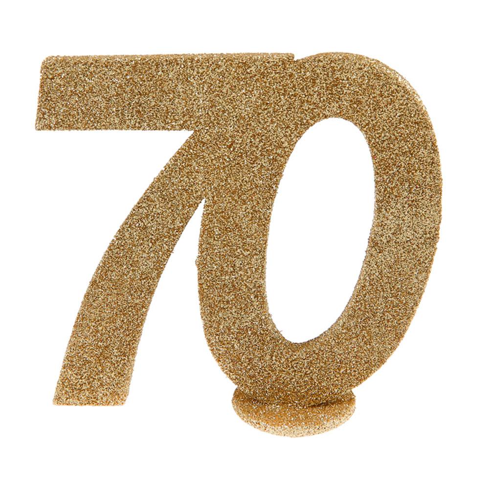 Decoración para Tarta 70 años Oro 10 cm