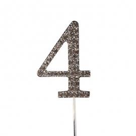 Decoración para Tarta Número 4 Diamante